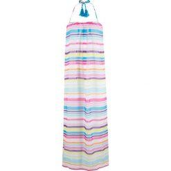 Długie sukienki: Sukienka plażowa bonprix biało-turkusowo-różowo-lila w paski