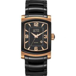 """Zegarki męskie: Zegarek kwarcowy """"Paxos"""" w kolorze czarno-różowozłotym"""