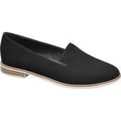 Lordsy damskie Graceland czarne. Czarne lordsy damskie marki Graceland, w kolorowe wzory, z materiału. Za 89,90 zł.