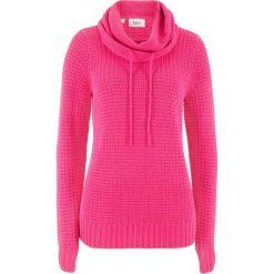 Sweter bonprix ciemnoróżowy. Czerwone swetry klasyczne damskie bonprix. Za 89,99 zł.