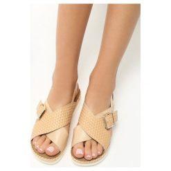 Rzymianki damskie: Beżowe Sandały Pay Up