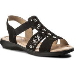 Sandały damskie: Sandały CAPRICE – 9-28601-20 Black Nubuc 008