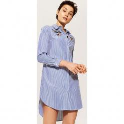 Koszulowa sukienka - Niebieski. Niebieskie sukienki House, l, z koszulowym kołnierzykiem, koszulowe. Za 89,99 zł.