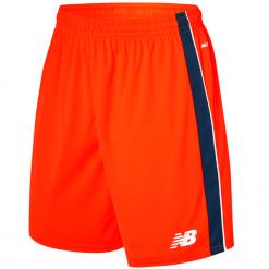 Spodenki treningowe - MS710007AO. Czerwone spodenki sportowe męskie New Balance, m, z materiału, do piłki nożnej. Za 69,99 zł.