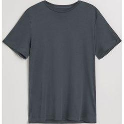 Gładki t-shirt - Szary. Szare t-shirty męskie Reserved, l. Za 49,99 zł.