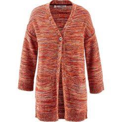Sweter rozpinany oversize bonprix kolorowy. Różowe kardigany damskie marki bonprix. Za 44,99 zł.