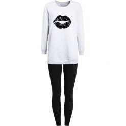 Piżamy damskie: Even&Odd SET  Piżama light grey/black