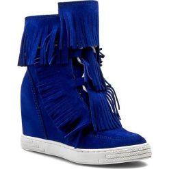 Sneakersy R.POLAŃSKI - 0818 Chaber. Czarne botki damskie skórzane marki R.Polański, na obcasie. W wyprzedaży za 279,00 zł.