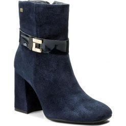 Buty zimowe damskie: Botki MACCIONI - 6050 Granatowy