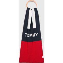 Tommy Jeans - Szalik. Szare szaliki męskie Tommy Jeans, z bawełny. Za 229,90 zł.