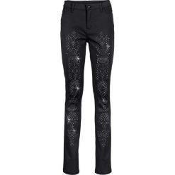 Spodnie z wysokim stanem: Spodnie z wysoką talią bonprix czarny