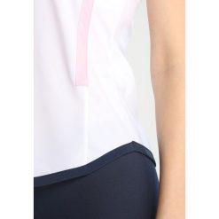 Topy sportowe damskie: sergio tacchini CURVATURE TANK TOP Koszulka sportowa white/pink