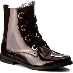 Buty zimowe damskie: Botki BADURA – 8128-69-L Bordowy 1349