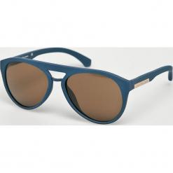 Calvin Klein - Okulary CKJ800S. Brązowe okulary przeciwsłoneczne męskie aviatory marki Calvin Klein, z materiału. Za 539,90 zł.