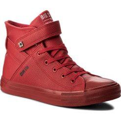 Trampki BIG STAR - Y174025 Red. Czerwone trampki męskie marki BIG STAR, z gumy. W wyprzedaży za 119,00 zł.