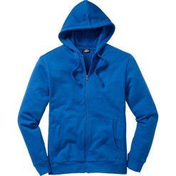 Bluza rozpinana z kapturem Regular Fit bonprix lazurowy niebieski. Niebieskie bejsbolówki męskie bonprix, l, z dresówki, z kapturem. Za 79,99 zł.