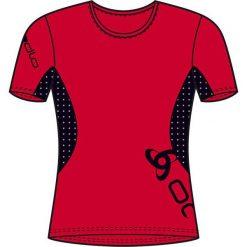 Topy sportowe damskie: Odlo Koszulka damska T-shirt Running EVENTS czerwona r.  L