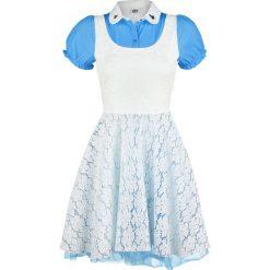 Alicja w Krainie Czarów Cosplay Sukienka niebieski/biały. Białe sukienki koronkowe Alicja w Krainie Czarów, l, w koronkowe wzory. Za 164,90 zł.