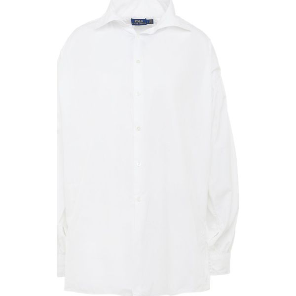 Ralph Broadcloth Lauren White Polo Koszula 34jq5cARL