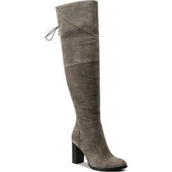 Muszkieterki EVA MINGE - Adelmira 2H 17SM1372216EF 809. Szare buty zimowe damskie Eva Minge, ze skóry, przed kolano, na wysokim obcasie. W wyprzedaży za 329,00 zł.