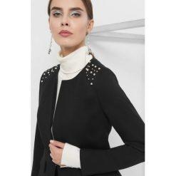 Taliowany żakiet z perłami. Czarne marynarki i żakiety damskie marki Orsay, xs, z bawełny, z dekoltem na plecach. Za 149,99 zł.