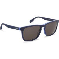 Okulary przeciwsłoneczne BOSS - 0317/S Matt Blue RCT. Niebieskie okulary przeciwsłoneczne męskie aviatory Boss, z tworzywa sztucznego. W wyprzedaży za 379,00 zł.