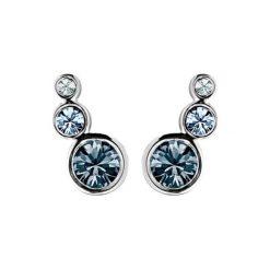 Kolczyki damskie: Kolczyki w kolorze srebrnym z kryształami Swarovski