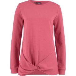 Bluza z przewiązaniem bonprix dymny malinowy. Czerwone bluzy damskie bonprix. Za 49,99 zł.