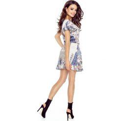 VIKI – bardzo wygodna sukienka rozkloszowana CHUSTA KWADRATY - 2
