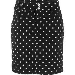 Spódnica ze stretchem, w kropki bonprix czarno-biały w kropki. Czarne spódniczki bonprix, w kropki. Za 74,99 zł.