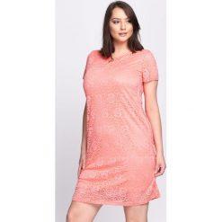 Sukienki: Koralowa Sukienka Gold Chain