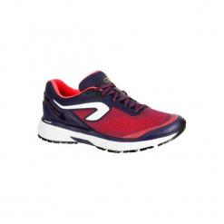 Buty do biegania KIPRUN LONG damskie. Czerwone buty do biegania damskie marki KALENJI, z gumy. Za 249,99 zł.