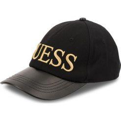 Czapka z daszkiem GUESS - AW7755 COT01 BLA. Czarne czapki z daszkiem damskie marki Guess, z aplikacjami, z bawełny. Za 169,00 zł.