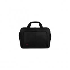 """Torba na laptopa Wenger Source 16"""", czarna 601066. Czarne torby na laptopa marki Wenger, w paski. Za 262,63 zł."""