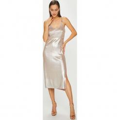 Diesel - Sukienka. Szare sukienki na komunię Diesel, na co dzień, l, z materiału, casualowe, na ramiączkach, midi, dopasowane. Za 999,90 zł.