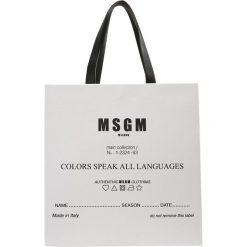 MSGM Torba na zakupy white. Białe shopper bag damskie MSGM. W wyprzedaży za 649,50 zł.