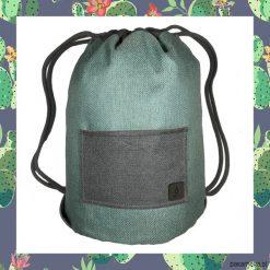 CACTUS & LIGHT BLUE dwustronny plecak SACK IT!. Szare plecaki męskie marki Pakamera. Za 165,00 zł.