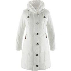 Płaszcze damskie pastelowe: Płaszcz pikowany bonprix biel wełny