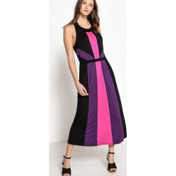 Długie sukienki: Długa sukienka bez rękawów z blokami kolorów