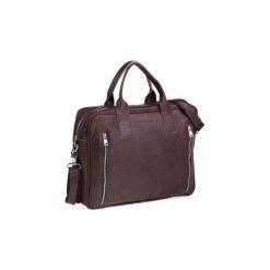 Ciemno brązowa męska torba na ramię brodrene bl02, Kolor wnętrza: Czarny. Brązowe torby na ramię męskie marki Kazar, ze skóry, przez ramię, małe. Za 350,00 zł.
