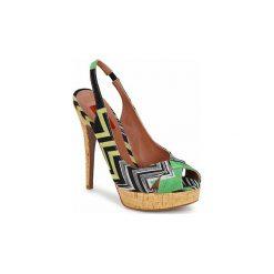 Sandały Missoni  RM71. Czerwone sandały damskie marki Nike. Za 1583,20 zł.