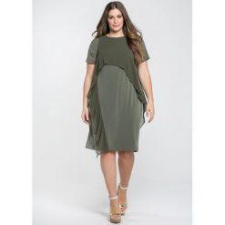 Długie sukienki: Długa, rozszerzana sukienka z nadrukiem