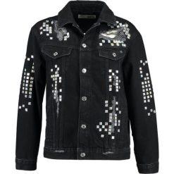 Bomberki damskie: Topshop IRRI Kurtka jeansowa black