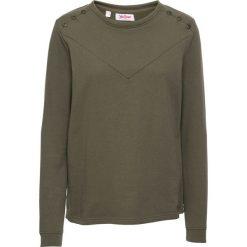 Bluza z guzikami bonprix ciemnooliwkowy. Zielone bluzy rozpinane damskie bonprix. Za 54,99 zł.