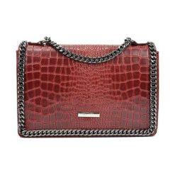 Torebki klasyczne damskie: Skórzana torebka w kolorze czerwonym – (S)20 x (W)30 x (G)8 cm
