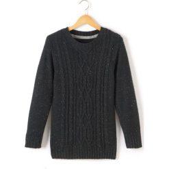 Odzież chłopięca: Sweter, okrągłe wycięcie szyi, dzianina o grubym splocie
