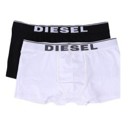 Diesel Zestaw Bokserek Męskich Damien 2 Szt. S Wielokolorowe. Szare bokserki męskie Diesel, z bawełny. Za 149,00 zł.