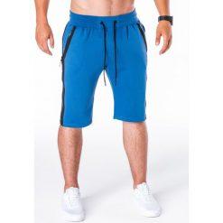 KRÓTKIE SPODENKI MĘSKIE DRESOWE W054 - NIEBIESKIE. Niebieskie spodenki dresowe męskie marki Ombre Clothing. Za 24,99 zł.