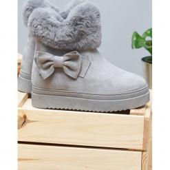 Szare Śniegowce Warm Up. Szare buty zimowe damskie Born2be. Za 89,99 zł.
