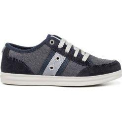 """Sneakersy """"Anthor"""" w kolorze granatowo-szarym. Niebieskie trampki chłopięce marki geox kids, z gumy. W wyprzedaży za 142,95 zł."""